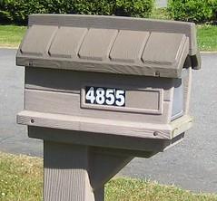4855 Plastic (~ Blu ~) Tags: mailbox mail blu numbers abbotsford 4855