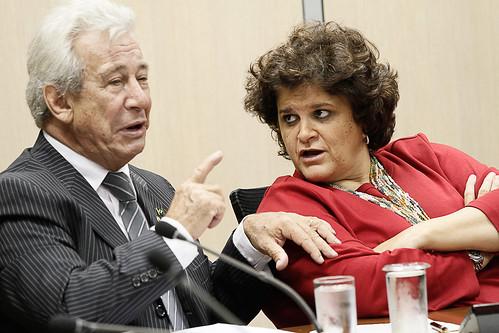 Deputado Federal Antônio Roberto em audiência com a ministra do Meio Ambiente, Izabella Teixeira