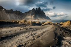 Vestrahorn II (Kristinn R.) Tags: sea sky mountains beach grass clouds blacksand iceland nikon vestrahorn nikonphotography stokknes kristinnr d800e