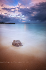 Isolated .... Long Exposure around the Bay of Cannes ( Alpes-Maritimes / France ) (Yannick Lefevre) Tags: longexposure sunset seascape storm france rock stone photoshop landscape islands bay pier nikon cotedazur raw nef cannes tripod paca provence paysage dri manfrotto hoya frenchriviera alpesmaritimes ndfilter nd400 poselongue nikoncapturenx d700 ndx400 capturenx2 yllogo nikkor1635mmf4 yannicklefevre||photography