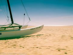 Lagos, Portugal (Herr Schmitzer fotografiert) Tags: ocean sea summer sun praia beach portugal strand boat sand meer warm sailing ship playa lagos heat sail algarve ozean holday