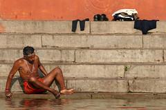 Varanasi, The River Ganges,  March2014  (352) (colingoldfish) Tags: varanasi bathing theganges varanasiindia bathingintheganges colingoldfish bathinginindia varanasitheganges
