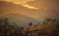 Seclusion (Rohit KC Photography) Tags: california sunset girl canon marine warm alone hill isolation lonely isolated hilltop headland canonef24105f4l hawkhill canon5dmarkii