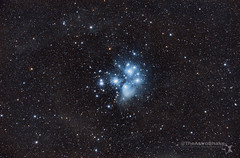 Pleiades (Messier 45) (TheAstroShake) Tags: canon stars space telescope nebula m45 celestron pleiades 550d astrometrydotnet:status=solved astrometrydotnet:id=nova990309