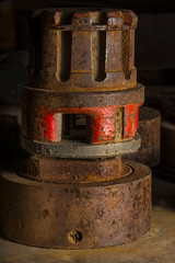 Old Rusting Machinery In The Light (Bill Gracey) Tags: old vacation arizona composition rust parts shapes rusty textures rusted weathered softbox warmlight sidelighting macrolens pitted directionallight goldfieldghosttown lastoliteezbox toolparts yn560