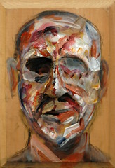 Finely Forced 01 (TroyStith) Tags: portrait art painting paper acrylic chaos emotion drawing mixedmedia contemporary identity study creation charcoal presence troystith
