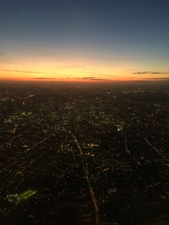 Take off from London City Airport last night.