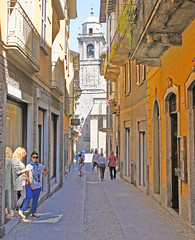 Bellagio, Lombardy, Italy (Rosie Girl1) Tags: street people italy colour tower church beautiful buildings town streetscene historic via bellagio colourful lombardy patevans colourfulbuildings colourfulstreet 0ldbuildings beautifularea rosiegirl rosiegirl1
