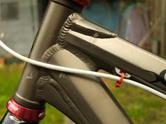 fishscale welds (SFD (professional loungist)) Tags: mountain bike work fuji marin b17 singlespeed hack x10
