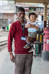 Kurseong Train Station (Niyantha) Tags: travel portrait baby india west kid railwaystation trainstation bengal westbengal kurseong peoplephotos peopleinbengal