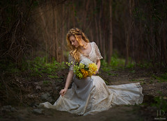 Fae ({jessica drossin}) Tags: flowers light portrait woman girl lady fairytale photography moss dress natural forrest lace teen fairy fantasy imagination bouquet braids enchanted actions fantasie jessicadrossin wwwjessicadrossincom jdbeautifulworldcollection
