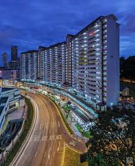 Curvature (musicexpression) Tags: street blue light singapore cross trails upper hour sg hdb