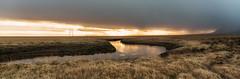 sunshine in the rain (jan.wallin) Tags: travel light sunset panorama rain clouds island iceland outdoor pano nik colorefexpro nikviveza2 nikond750 afsnikkor241204gvr