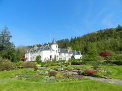 Attadale House, Attadale Gardens, Wester Ross, May 2016 (allanmaciver) Tags: flowers trees house green grass gardens architecture fine style fresh smell mansion welcome turret wander mowed attadale circuar allanmaciver