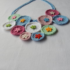 Colorful crochet bib necklace (MaxMixShop) Tags: crochet fashionjewelry beadednecklace crochetnecklace fibernecklace