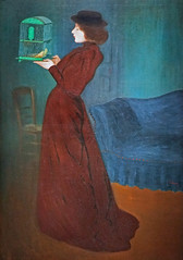 Femme  la cage de J. Rippl-Rnai (Muse du Luxembourg, Paris) (dalbera) Tags: paris france femme secession jugendstil dalbera museduluxembourg