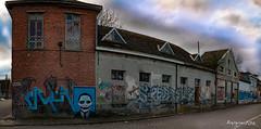 The joker (ericbaygon) Tags: street panorama art graffiti nikon paint belgium belgique belgie tag panoramic dessin peinture joker doel flandre nikonpassion d300s