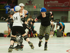 IMG_0448 (clay53012) Tags: ice team track flat arena madison skate roller jam derby league jammer mrd bout flat wftda derby womens track hartmeyer moocon2016