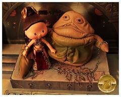 Princess Leia Slave Girl Custom 7 (Plum's Place) Tags: starwars princessleia strawberryshortcake ooakdoll slavegirlleia retro80s retrotoys plumsplacecustoms plumsplace