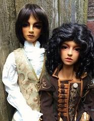 Claude & Amethyst (jSarie) Tags: shadow dolls claude amethyst resin dollfie superdollfie volks ebony balljointed bjds sd16 abjds sdgou