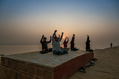 Meditation - Ghats of Varanasi (Well-Bred Kannan (WBK Photography)) Tags: travel india river nikon indian varanasi d750 hindu kashi ganga ganges ghats banaras trourism kannan kasi wellbred wbk holyriver uttarpradesh travelphotography ghatsofvaranasi wbkphotography kannanmuthuraman nikond750