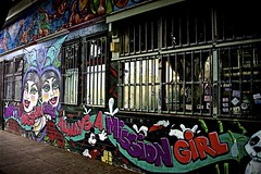 ONCE A MiSSiON GiRL ALWAYS A MiSSiON GiRL ... (sswj) Tags: sanfrancisco california urban streetart northerncalifornia composition nikon mural availablelight streetphotography naturallight existinglight latino missiondistrict fullframe dslr 24thstreet scottjohnson d600 lamission missiongirl nikkor28300mm