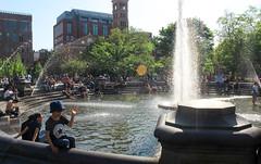 IMG_1254 (kz1000ps) Tags: nyc newyorkcity people fountain architecture warm cityscape manhattan vibrant washingtonsquarepark sunny urbanism greenwichvillage crowded