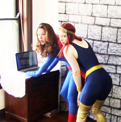 TRAPPED! (POV) (SW-STORM).Still002 (Spandxcomics) Tags: costumes cosplay tights wonderwoman supergirl unitard superheroine