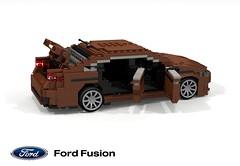 Ford Mondeo / Fusion (CD391) (lego911) Tags: ford mondeo fusion cd391 europe america 2013 2010s sedan saloon sport auto car moc model miniland lego lego911 ldd render cad povray cd4 motor company midsize