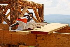 Sitting Stihl (thetrick113) Tags: work chainsaw cedar ledge hudsonriver gunks summerhouse hdr hudsonrivervalley carpentry mohonk stihl mohonkmountainhouse shawangunk shawangunkmountains shawangunkridge chainsawchain rusticstructure sonyslta65v chainsawbar rusticcarpentry shiltchainsaw whittieroutlook stihlmsa200c batteryoperatedchainsaw whittieroutlooksummerhouse