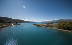 Lake Tekapo (alextoothill) Tags: blue newzealand mountain lake water landscape aqua outdoor turquoise cook mount nz southisland laketekapo tekapo newzealandparadise
