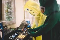 DJ Gumby and DJ Wacky Waving Inflatable Arm Flailing Tube Man (Vic_Torius) Tags: studio traktor cosplay native north raleigh roland carolina instruments maschine animazement s8 2016 tr8 kaosillator