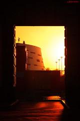 View on Arena Omsk (kirill.jankowsky) Tags: sunset orange black stadium background sony arc sigma m42 135mm  nex 3n f64 pantel