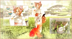 GoldenBubblesFlewCollage (shirley Uborstein) Tags: anime cute fashion asian ginger blog goldfish sl secondlife kawaii blogging kimono nani geta cartoonish amiable arise astralia chapterfour bossie siratama characterart naminoke since1975 glamaffair sl13b cubiccherrykreations {aii} kawaiiproject genneutral gamigacha