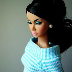 Turquoise Poppy (Deejay Bafaroy) Tags: portrait fashion toys doll turquoise stripes barbie it portrt poppy fr royalty parker striped puppe streifen integrity gestreift trkis moodchangers
