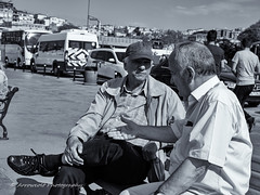 Street 127 (`ARroWCoLT) Tags: street old man bus adam monochrome face hat bench photography blackwhite shiny day bright outdoor streetphotography samsung istanbul sharp sidewalk stop cap rest seashore streetseller sokak grandbazaar sahil nx skdar siyahbeyaz midage sohbet nxm nx300 arrowcolt peoplechat
