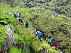 Another steep scramble. - DSC06645 (JJC2008) Tags: eisc chuillinn reeks kerry bishopstown bhc gully