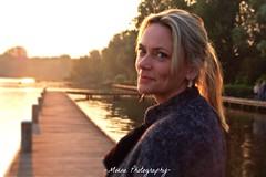 Beautiful Blonde (Mone-Photography) Tags: sunset woman beautiful model modeling blond blonde kralingen kralingseplas