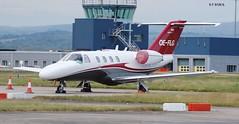 OE FLG CESSNA 525 CITATION (douglasbuick) Tags: plane private scotland airport nikon flickr glasgow aircraft aviation jet executive 525 cessna austrian citation d40 egpf