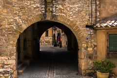_DSC3300 (allabar8769) Tags: puerta huesca entrada casas alquezar pasadizo aragn gtico portaln