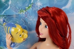 2016 Ariel Classic 12'' Doll - US Disney Store Purchase - Deboxing - Cover Off - Closeup Front View (drj1828) Tags: disneystore doll 12inch classicprincessdollcollection 2016 ariel flounder purchase deboxing