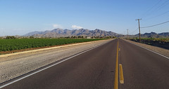 (BCooner) Tags: road arizona mountains perspective telephonepoles sierraestrella goodyearaz gilarivervalley