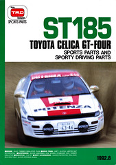 ST185 TOYOTA CELICA GT-FOUR TRD SPORTS PARTS BROCHURE (celicacity) Tags: sports parts toyota 1992 brochure celica trd gtfour st185 alltrac 2108920006b