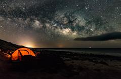 Night out. (Pedro Lpez Batista) Tags: sky canon stars islands nightshot fuerteventura canarias via cielo estrellas nocturna canaryislands islas markii milkyway jandia lactea cofete