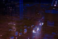 Johannesburg (elsableda) Tags: africa road street city shadow urban reflection cars window night buildings dark southafrica lights high cityscape view darkness traffic south johannesburg cyberpunk joburg dystopia