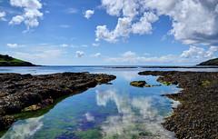 Still waters at West Looe, Cornwall (Baz Richardson) Tags: reflections coast cornwall looe rockpools looeisland hannaforebeach