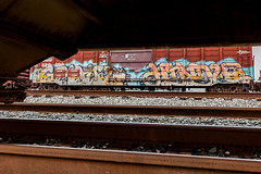 (o texano) Tags: bench graffiti houston trains sws d30 wh gtb freights ghouls a2m benching hindue