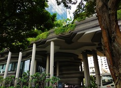 the garden city (SM Tham) Tags: trees building gardens architecture outdoors hotel singapore asia landscaping columns terraces creepers shrubs contours hanginggardens pickeringroad wohaarchitects parkroyalonpickering