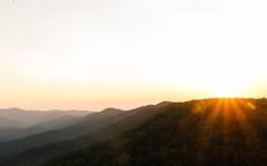 Amicalola Falls State Park Sunset (DancingTerrapin) Tags: park light sunset sky orange sunlight mountains june ga georgia landscape landscapes warm view sunday scenic parks highlights lodge ridge valley rays peaks blueridge northgeorgia ridges valleys dawsonville 2016 amicalolafallsstatepark georgiastatepark georgiastateparks