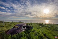 Abandoned Car (Rob Moses) Tags: abandoned car automotive auto vintage classic rust rusty lake beach sky sunset beautiful beauty pretty time ghost forgotten clouds hussar alberta canada sun canon 6d 1740l 1740mm